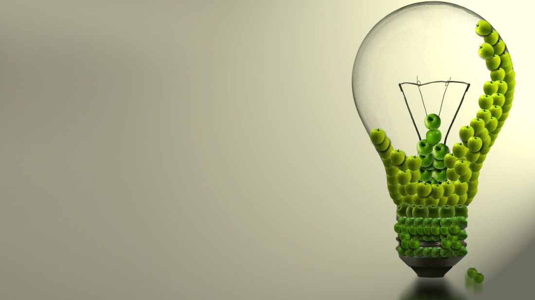 Light bulb apples abstract wallpaper ideas for the house
