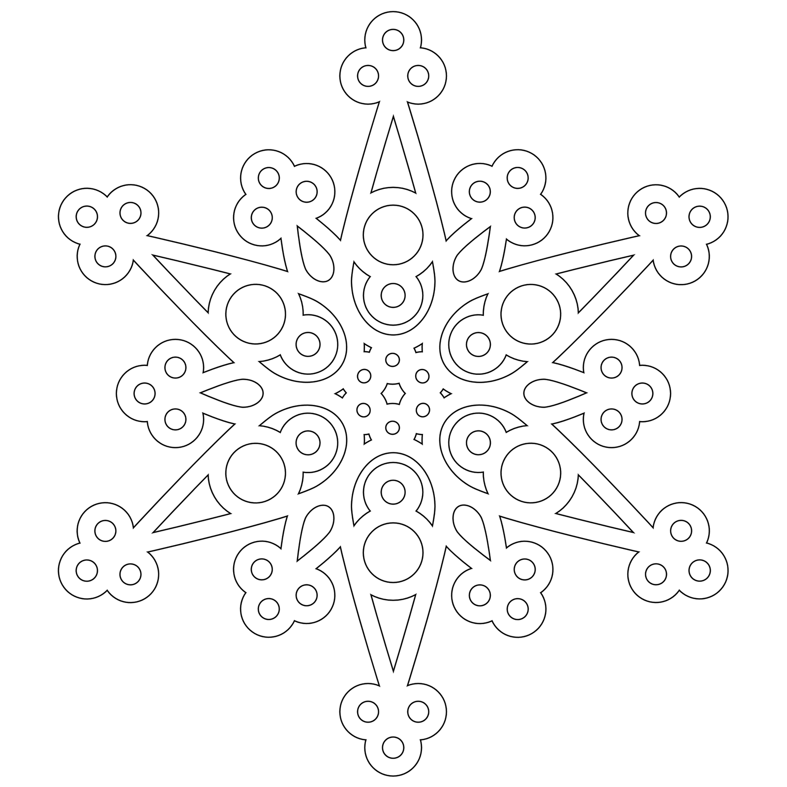 Snowflake Patterns Coloring Pages