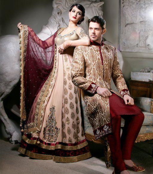 Bridal Anarkali Lengha Wedding Couple Outfit