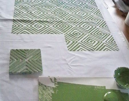 Home Dzine How To Block Print On Fabric