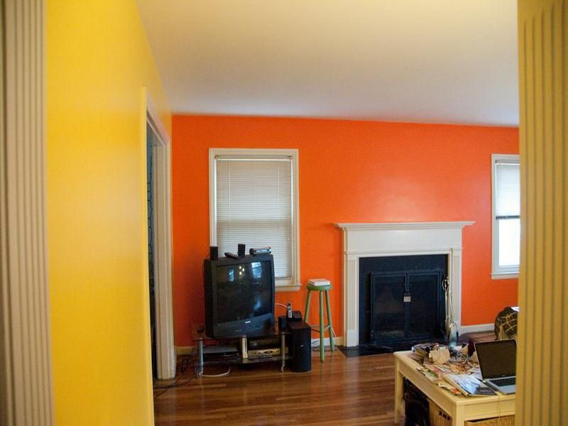 an awesome combination yellow orange paint colors on paint combinations for interior walls id=76498