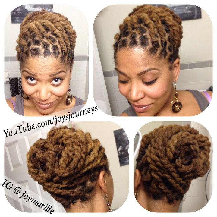 Two strand twist loc pin up Just a few changes from the last