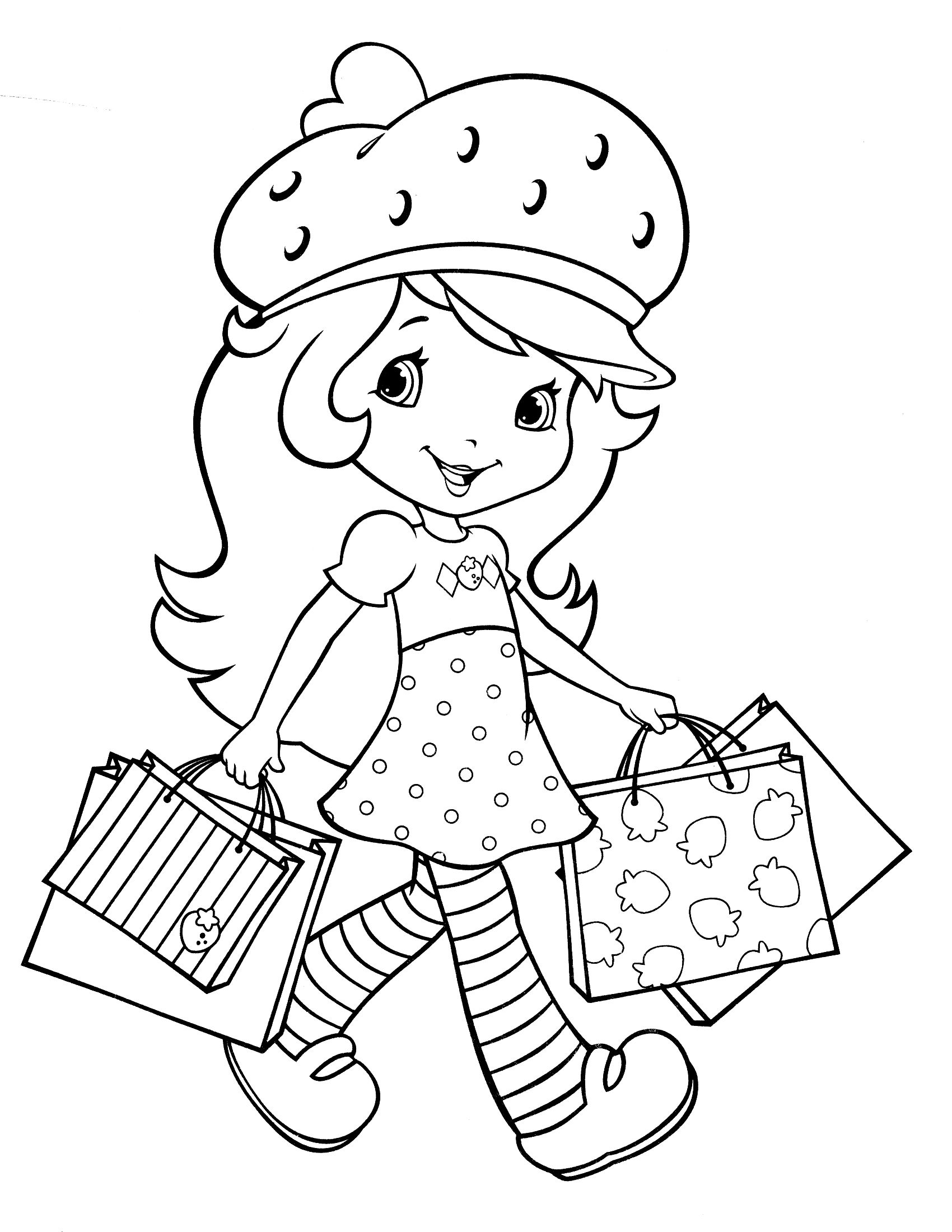 Free Online Strawberry Shortcake Coloring Pages