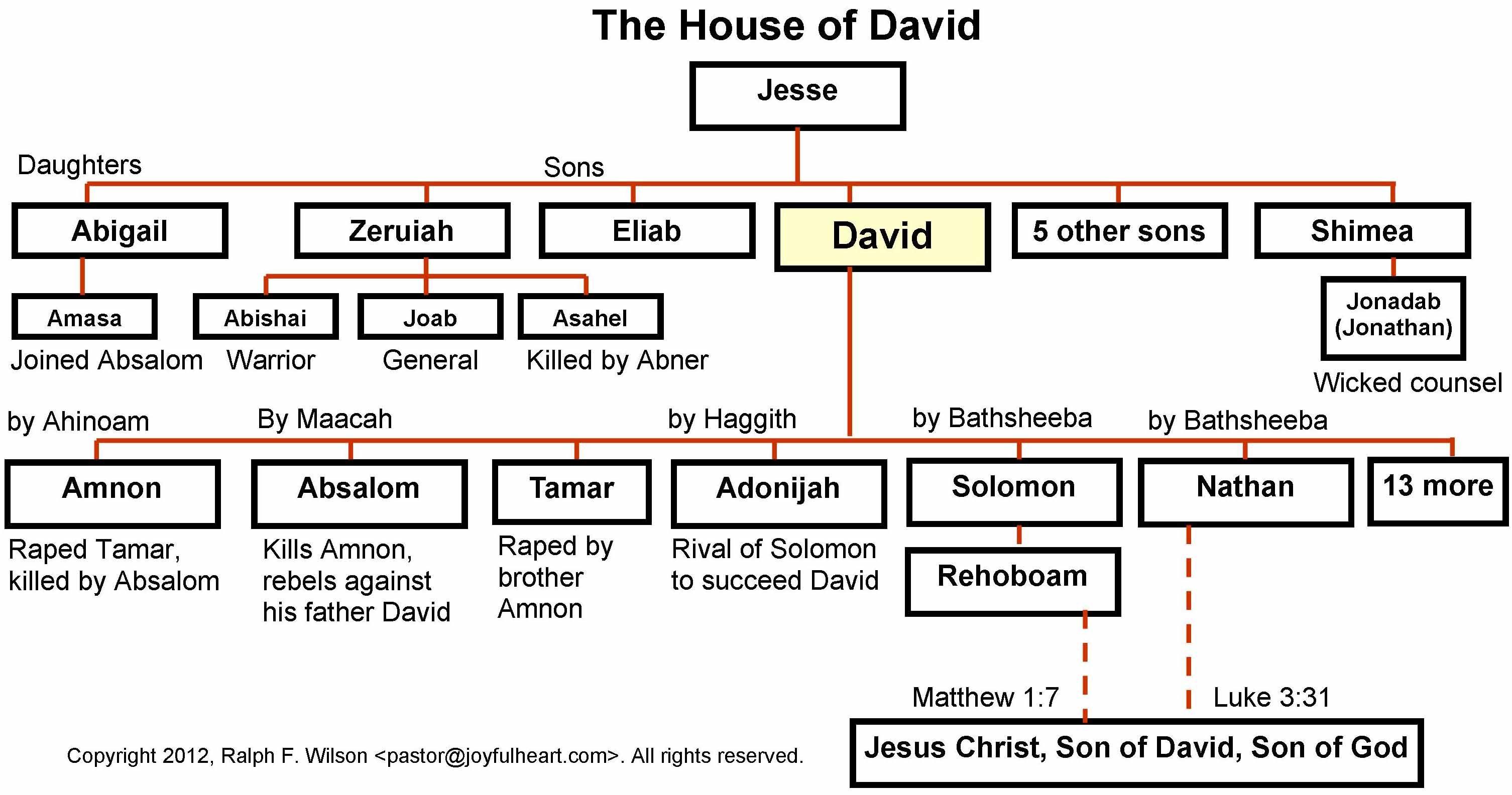 Genealogy Of David