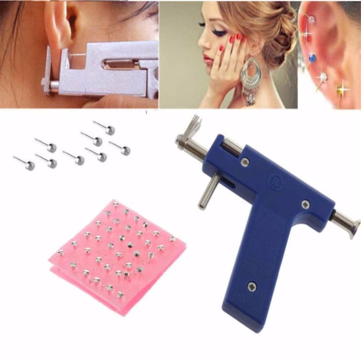 Professional Iron Ear Piercing Gun Ear Nose Navel Body Piercing Gun