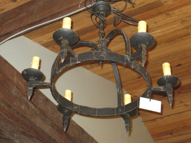 Iron Antique Wrought Chandelier