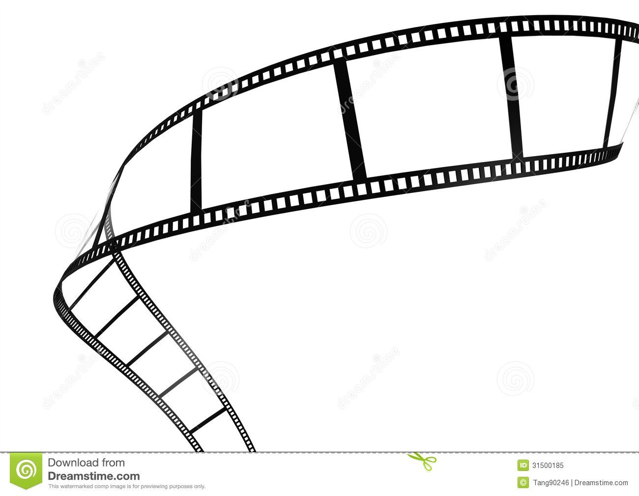 Film Strip Template Border Movie Theater Frame Stock