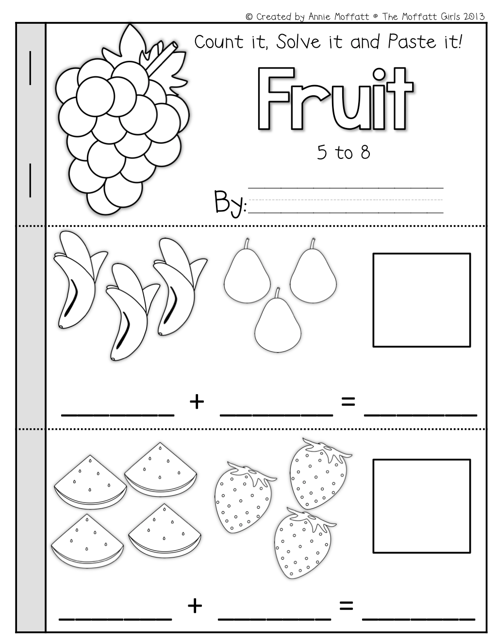 Math Booklets Simple Addition And Subtraction Cut And