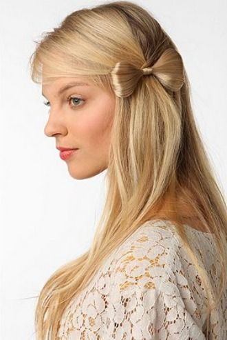 Bow made from hair. Clever!