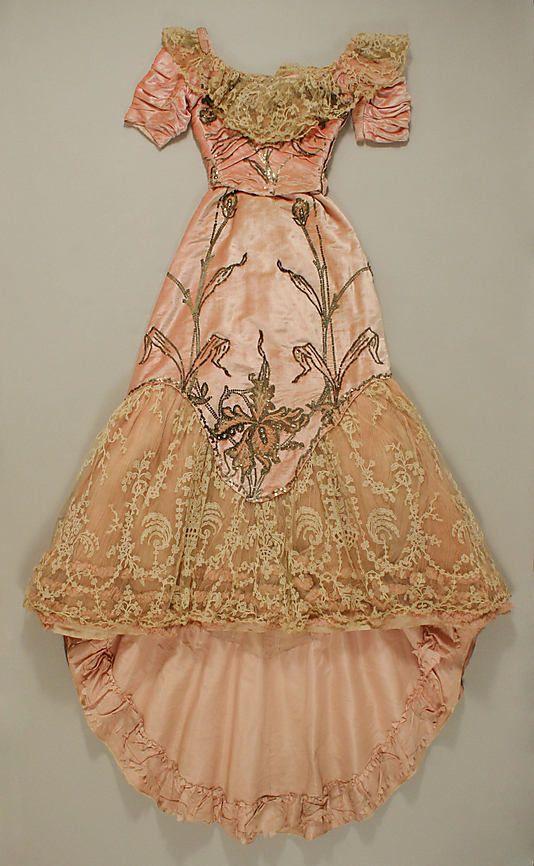 the original mullet dress!  Met Museum, Silk Dress (Ball Gown), Jacques Doucet,