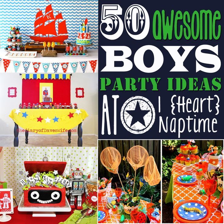 50 Awesome Boys Party Ideas!   I Heart Nap Time – Easy recipes, DIY crafts, Home