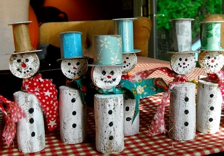 13 DIY Christmas Ornaments from Red Tricyckle: Cork Snowmen and Citrus Ornaments