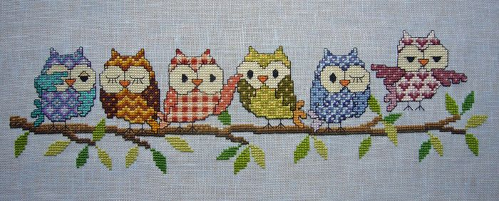 Adorable owl cross-stitch project