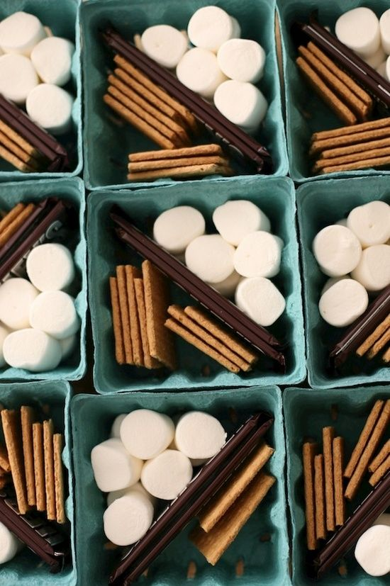 family reunion decorations | Family Reunion Ideas / smore in a berry basket