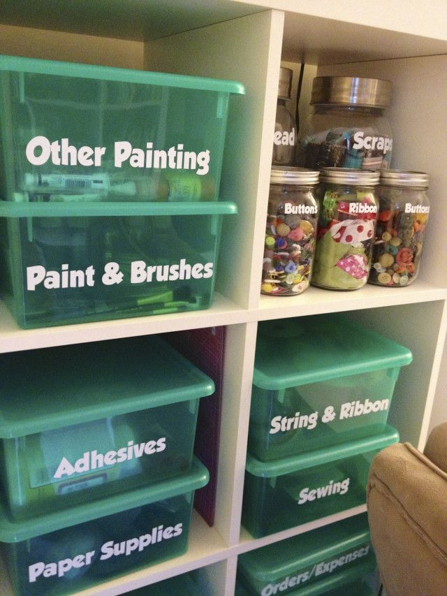 Craft Room Organization – The Doyle Dispatch.   I like how well labeled these co