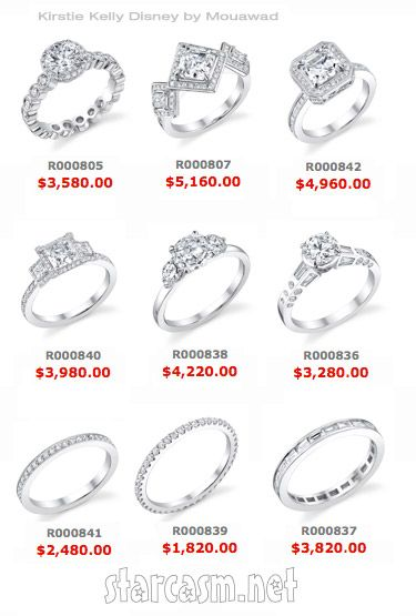 Kirstie Kelly Disney wedding ring collection