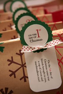 12 days of Christmas – Since my freshman year of college, my mom gives me 12 sma