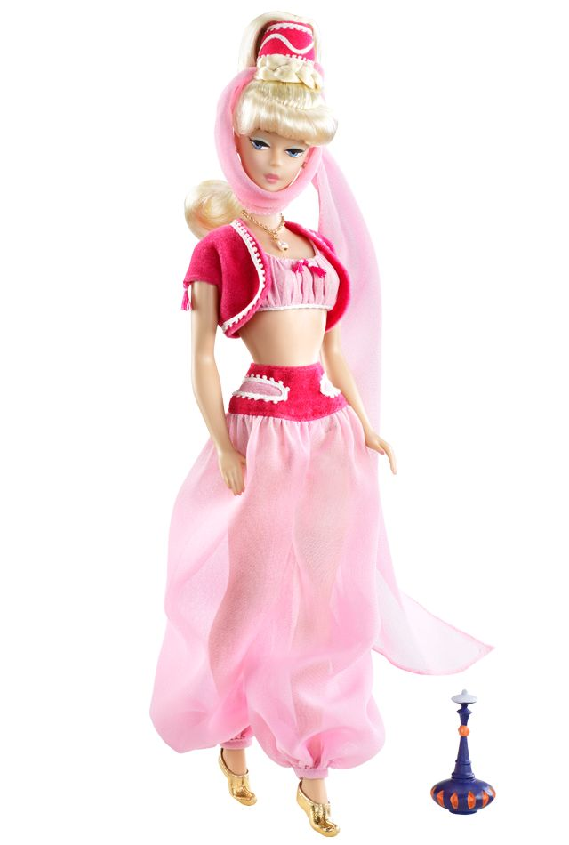 Oh I have to have her! I dream of Jeannie Barbie Doll $ 34.95 oh no it says she