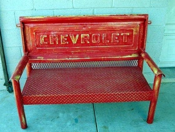 This would be such a cool bench for the backyard, Reston would love it!