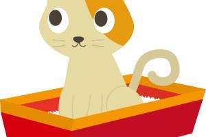 猫トイレイラスト