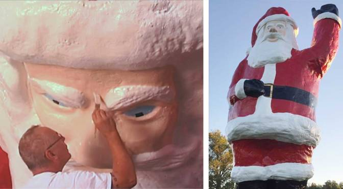 Indiana Contractor Revives a Larger-Than-Life Santa