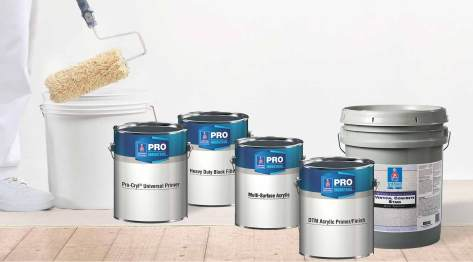 lineup of sherwin williams concrete, Pro Industrial, Loxon and block filler coatings