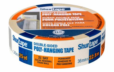 Shurtape double sided poly-hanging tape