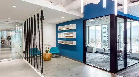 office interior at Expedia corporate headquarters in Vancouver