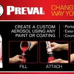 Preval Sprayer ad - consumers can turn any paint, coating or lacquer into a spray