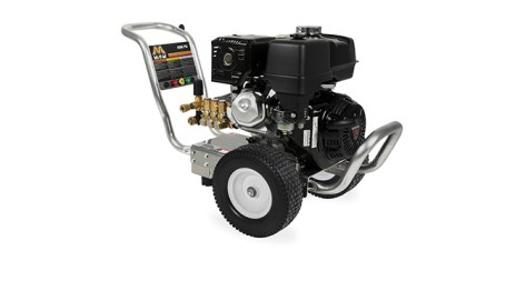 Fall 2018 advertorial image of the Mi-T-M Job Pro Aluminum 4000 PSI contractor