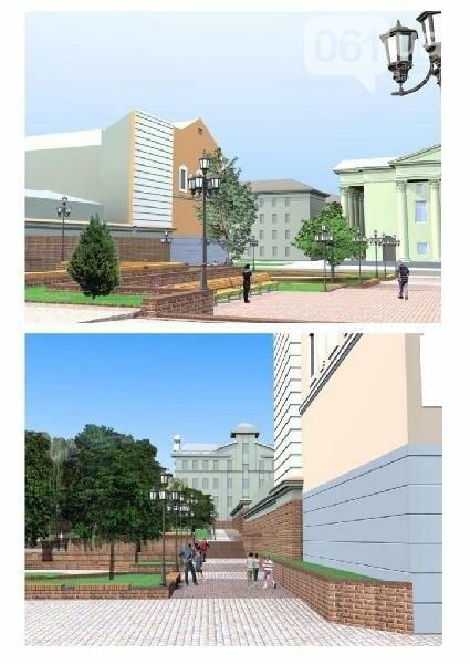 В Запорожье реконструируют парк напротив театра Магара ...
