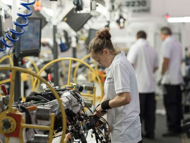 PHOTO: Inside Aston Martins factory in Gaydon, England.