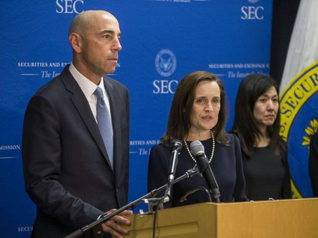 PHOTO: U.S. Securities and Exchange Commission Co-Director of Enforcement Stephanie Avakian speaks during a news conference announcing their decision to sue Tesla CEO Elon Musk at the U.S. Securities and Exchange Commission September 27, 2018.