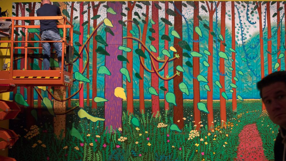 Back To His Roots Hockney Landscapes Adorn Van Gogh Museum Abc News
