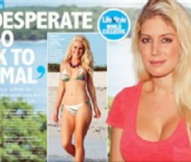 Now Playing Heidi Montag Ready For Breast Reduction