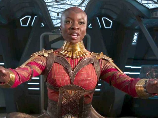 PHOTO: Danai Gurira in the movie, Black Panther, 2018.