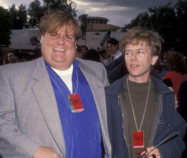 Photo Chris Farley And David Spade At The 2nd Annual Mtv Movie Awards June
