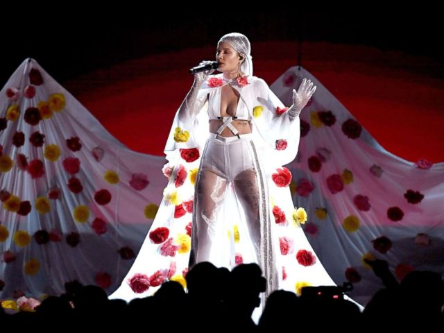 PHOTO: Halsey performs onstage during the 2017 Billboard Music Awards at T-Mobile Arena, May 21, 2017, in Las Vegas, Nevada.
