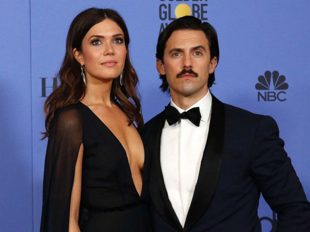 Milo Ventimiglia opens up about shocking  This Is Us  episode     PHOTO  Mandy Moore and Milo Ventimiglia pose after presenting an award  during the 74th Golden