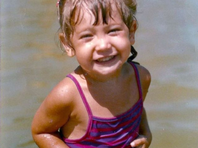 PHOTO: Ginger Zee as a toddler at the beach.
