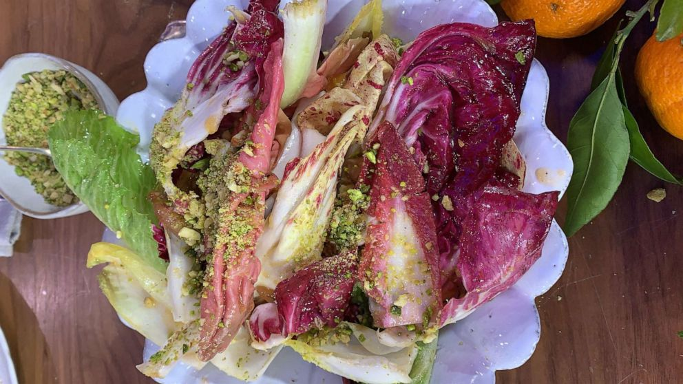 PHOTO: Jamie Oliver's Lady Marmalade salad with endive and orange.