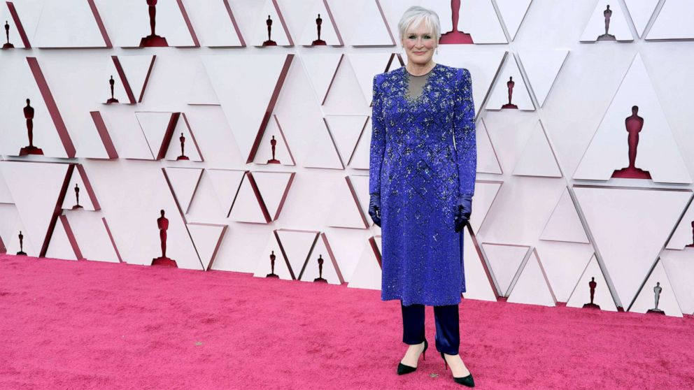 PHOTO: Glenn Close attends the 93rd Annual Academy Awards, April 25, 2021, in Los Angeles.