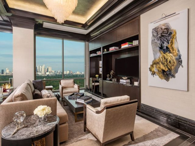 PHOTO: The Presidential Suite is 5,000 square feet and features two bedrooms and Houston skyline views.