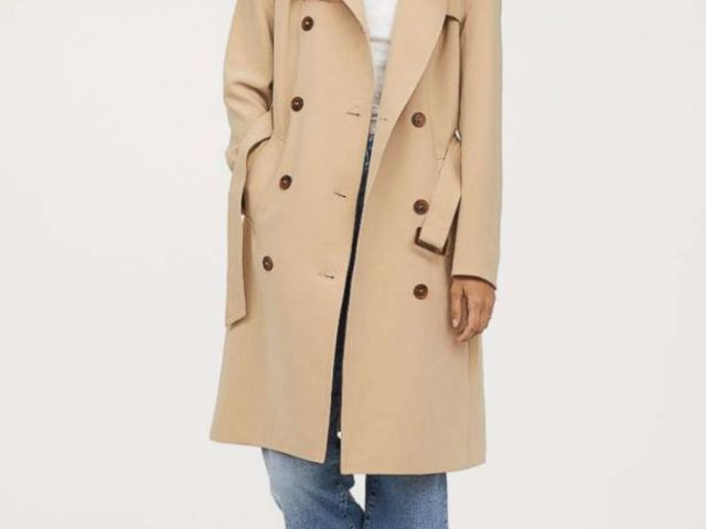 PHOTO: A $69.99 trenchcoat by H&M is pictured here.