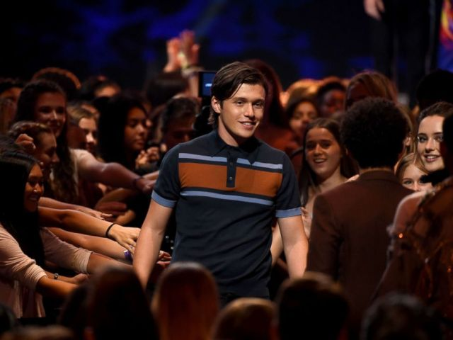 PHOTO: Actor Nick Robinson accepts the Choice Comedy Movie for Love, Simon onstage during FOXs Teen Choice Awards, Augu. 12, 2018, in Inglewood, Calif.
