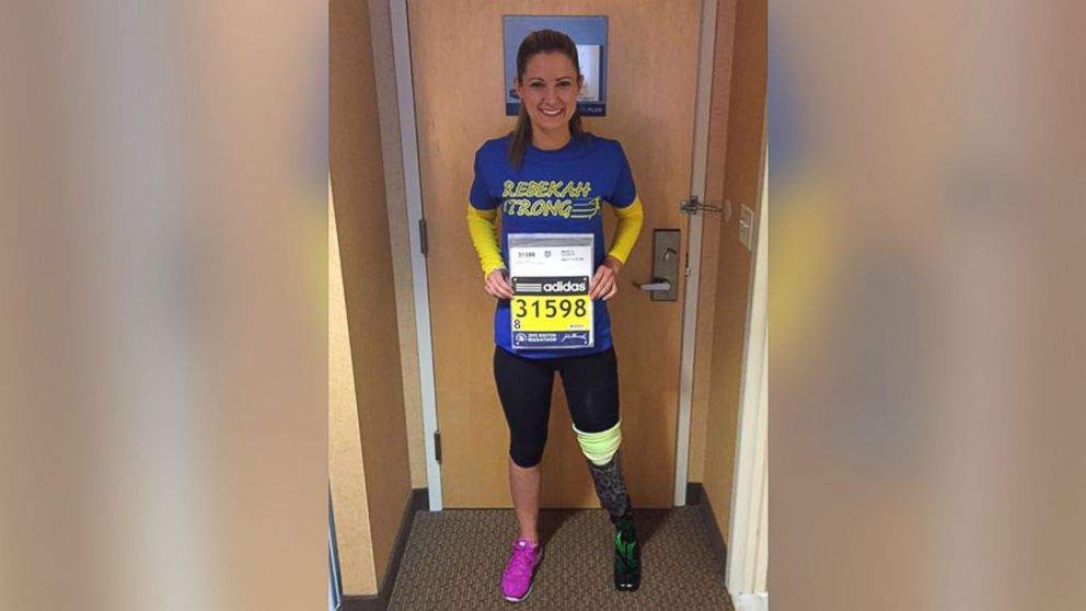 Boston Marathon Bombing Survivor Crosses Finish Line ABC