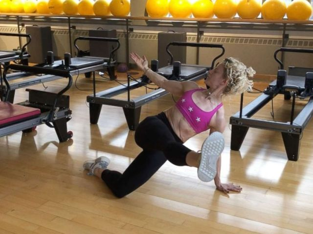 PHOTO: Ultimate Athletics Paula Ryff demonstrates a push up with side bridge.
