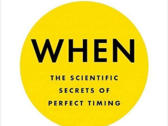 PHOTO: The book cover of When: The Scientific Secrets of Perfect Timing, written by Daniel H. Pink in this undated photo.