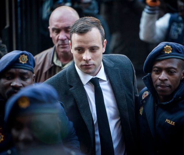 Photo Oscar Pistorius Center Arrives At The High Court In Pretoria South