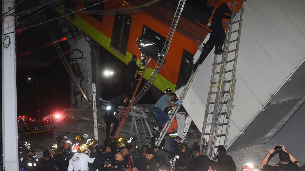 Mexico City metro overpass collapses onto road; 20 dead, Swahili Post